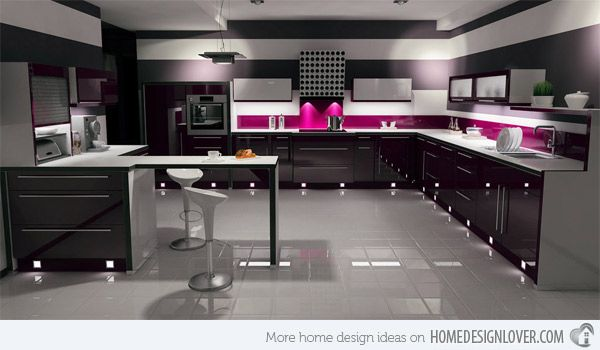 Kitchen Ideas Gloss 15 black and gray high gloss kitchen designs | gloss kitchen, high
