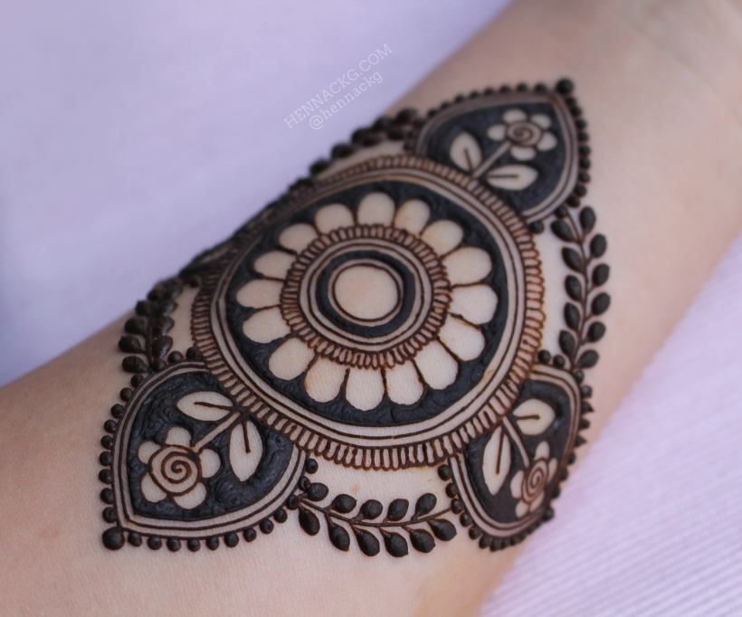 Mehndi For The Inspired Artist : New design inspired by two of my previous henna designs the full