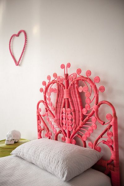 painted rattan headboard | cool things for room | Home decor ...