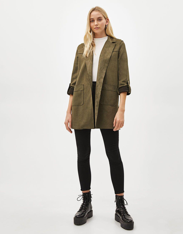Faux Suede Coat Suede Coat Women Fashion Long Jacket Outfit [ 1313 x 1024 Pixel ]