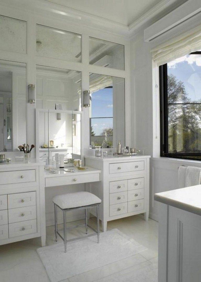 55 Luxury White Bathroom Vanity Ideas Bathroomideas Bathroomdecor Bathroomremodeling Vanity Design Bathrooms Remodel House Bathroom