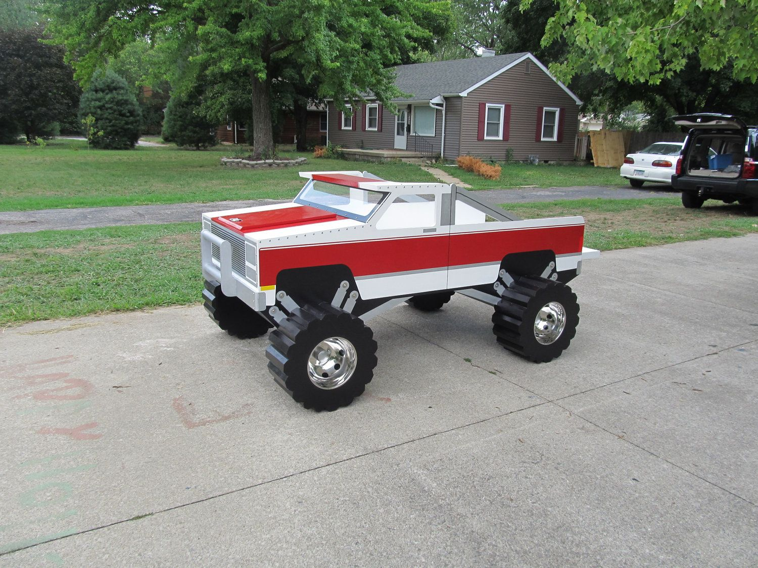chevy pick up truck twin bed by kidscreationsbeds on etsy