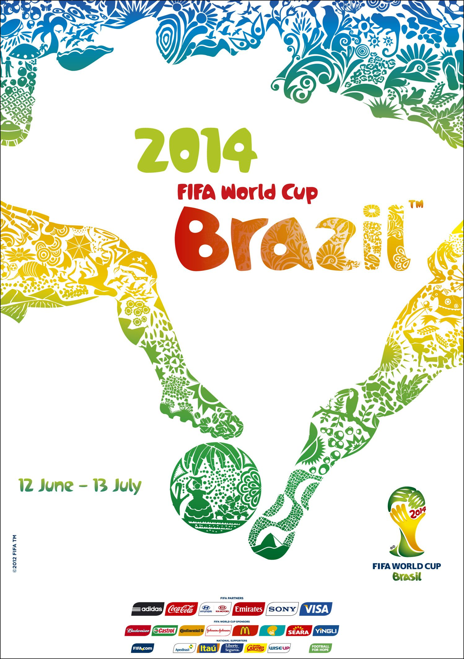 Poster design 2014 - Find This Pin And More On Design By Annajp Fifa World Cup 2014 Official Poster