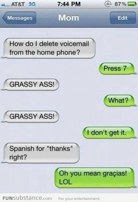 Thank You In Spanish Funsubstance Com Funny Text Conversations Funny Texts Jokes Funny Text Memes
