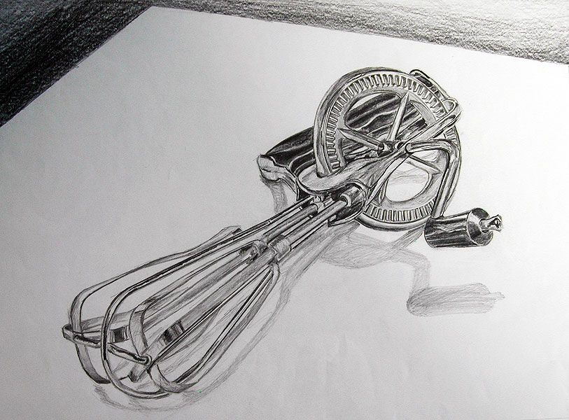 Object Drawing - Kitchen Utensil (Medium Pencil On Paper) | Observational Drawing | Pinterest ...