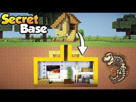 Minecraft Easy Secret Base With Starter House Tutorial