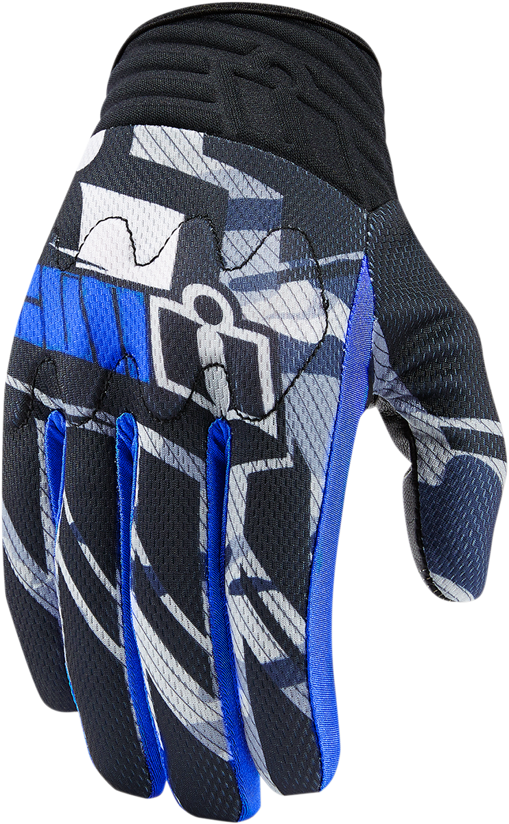 ICON Anthem Primary Glove Blue Motorcycle gloves