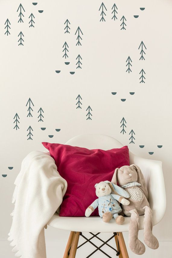 Forest Wall Decal Forest Nursery Wall Decals Woodland Wall Decal