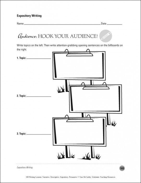Expository Hooks Worksheet