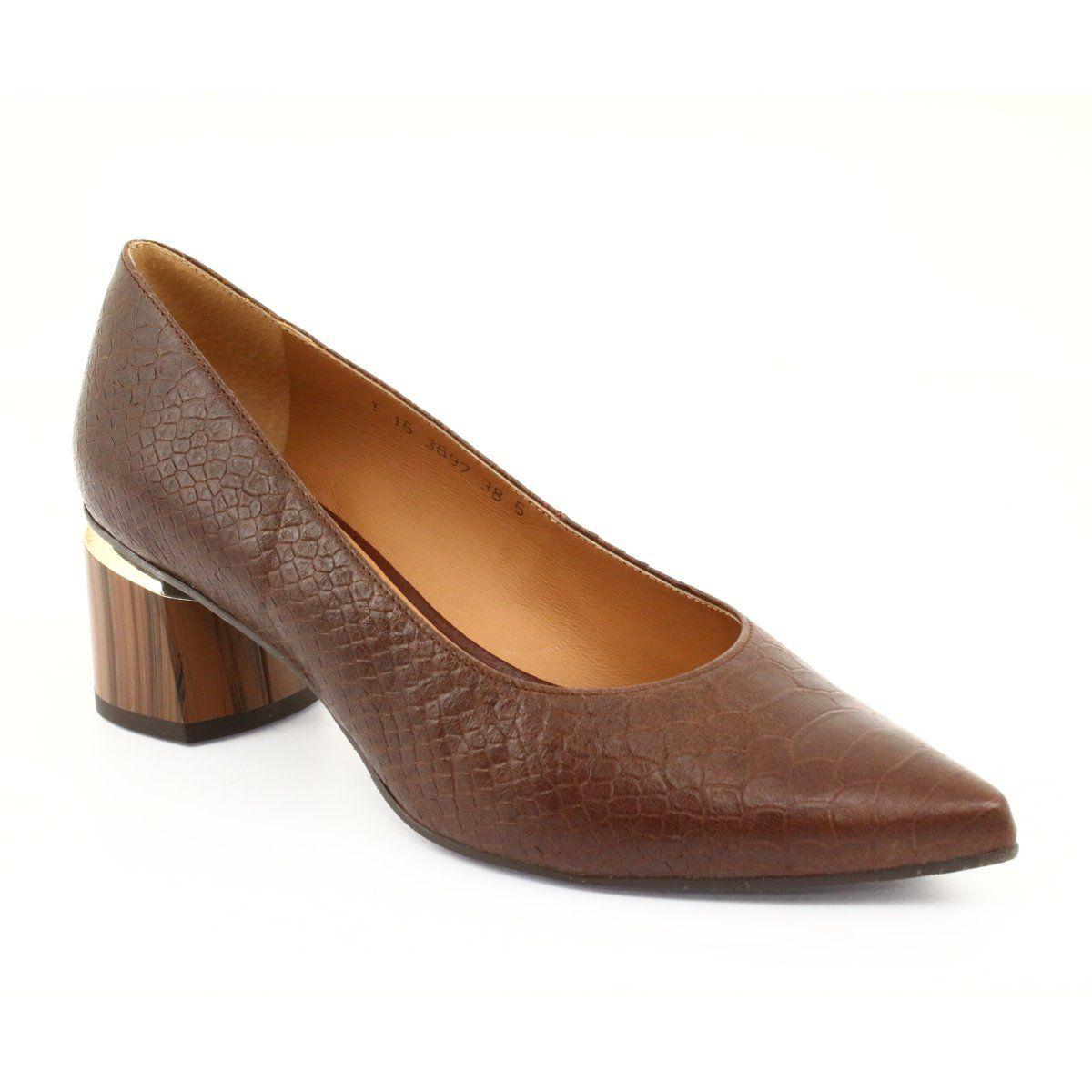 Czolenka Buty Damskie Braz Pyton Anis 3697 Brazowe Women Shoes Shoes Shoes World