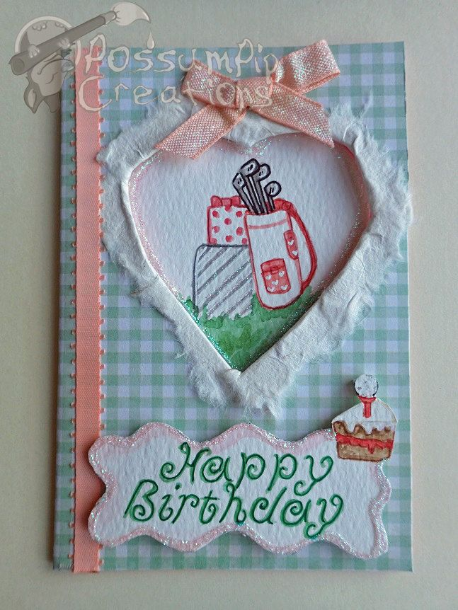 Handmade Painted Women Girls Pretty Golf Birthday Card By PossumPipCreations On Etsy Handpainted Watercolour Ladies Cute