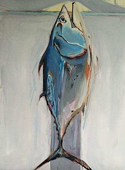 Bonita Oil Art Fish Art Painting