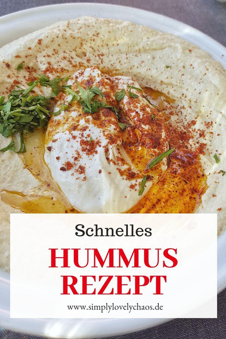 Schnelles Hummus Rezept - SIMPLYLOVELYCHAOS