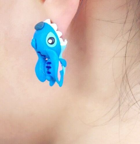 c20a36f2f Handmade Polymer Clay Lilo & Stitch Stud Earrings sold by Noirlu. Shop more  products from Noirlu on Storenvy, the home of independent small businesses  all ...