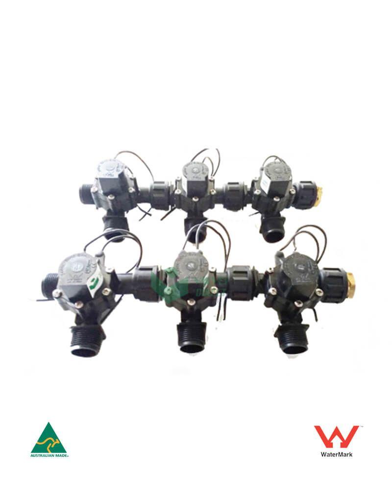 Irrigation Manifold Assembly 6 X Manifold 2 Way 3 4 24vac 50lpm Valves Direct Irrigation Irrigation Controller Valve