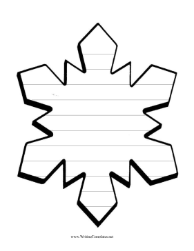 snowflake book report template  Snowflake Writing Template