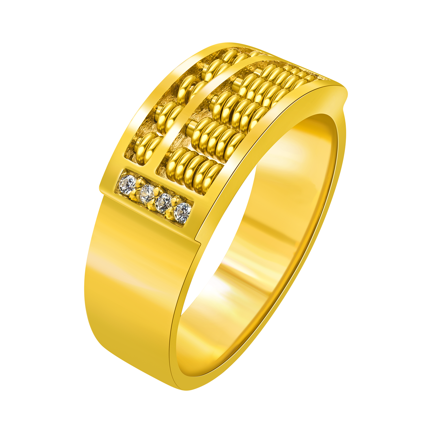 20K Gold Plated Abacus Ring | Jewellery Collection | Pinterest
