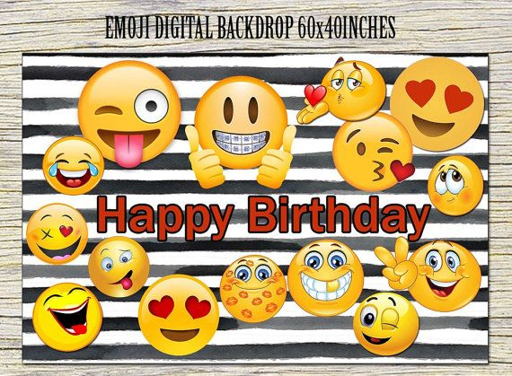 Printable Emojis Poster Cool Emoji Themed Birthday Parties Party Ideas
