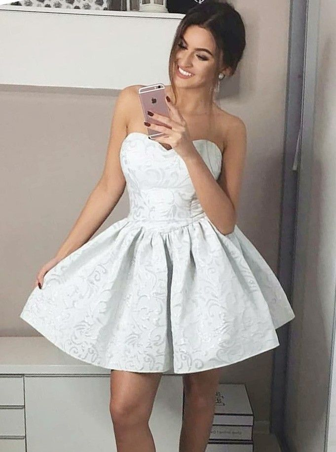 4105cb75309 elegant sweetheart short prom dresses with special lace, simple summer  party dresses, 2018 white homecoming dresses