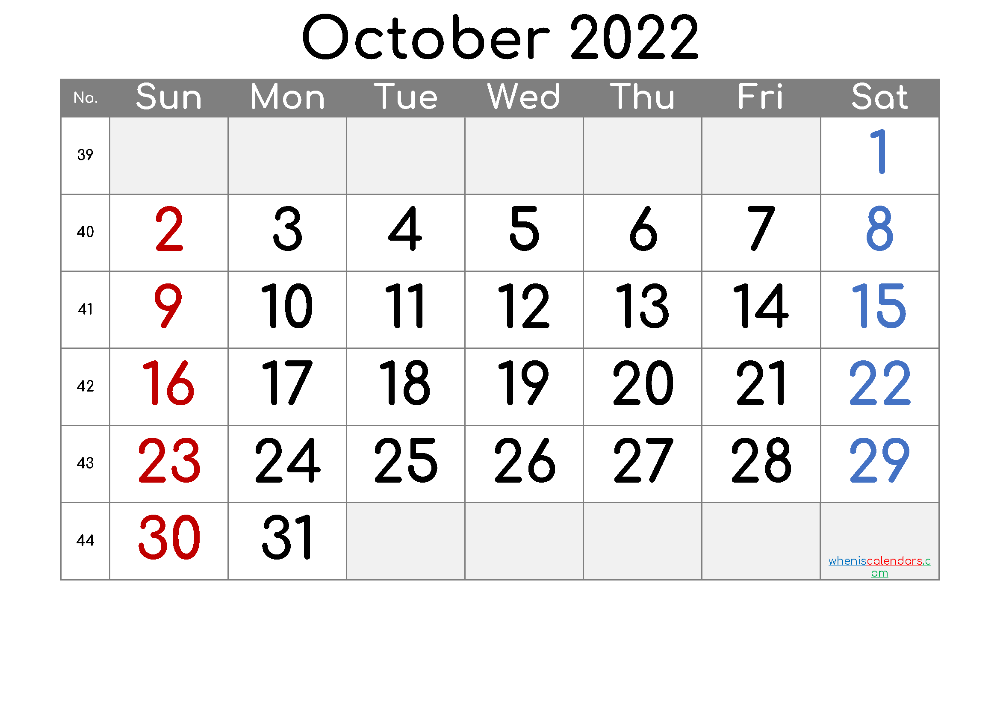 Calendar 2022 October Printable.Free Printable Calendar 2022 October Free Printable 2020 Monthly Calendar With Hol Calendar Printables Calendar With Week Numbers Printable Calendar Template