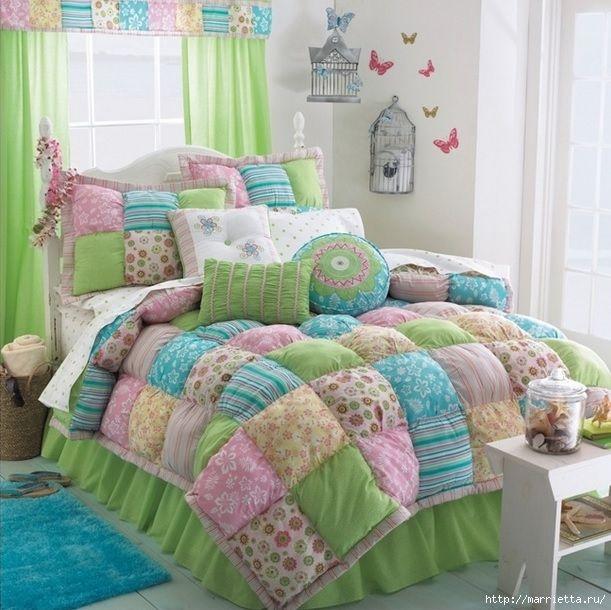 Одеяла пэчворк фото