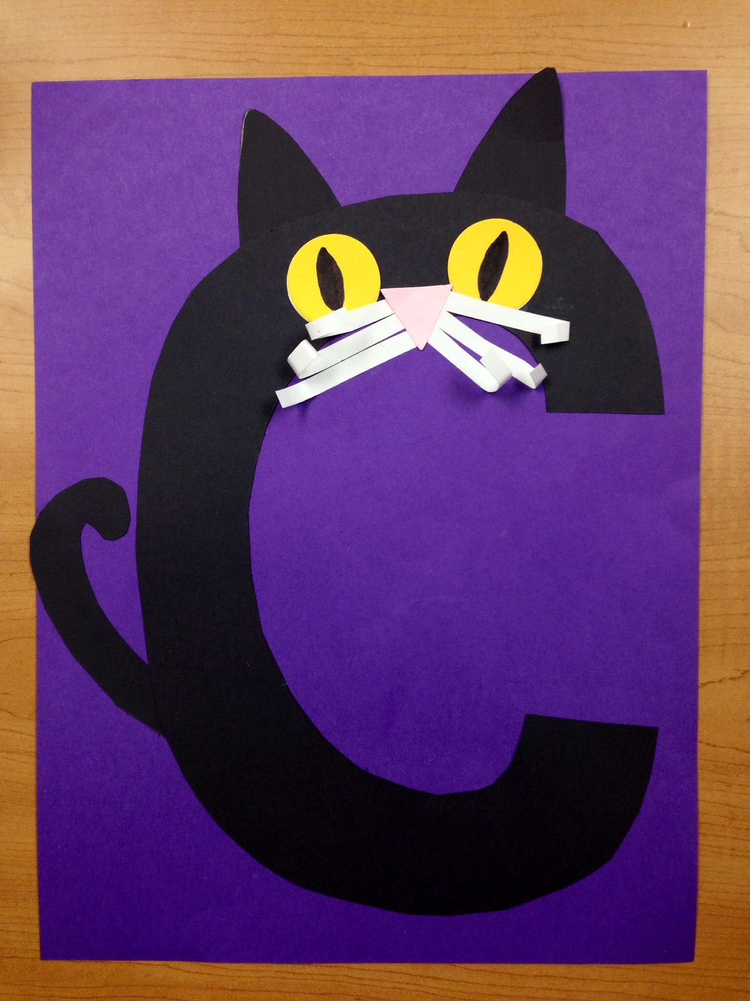 C Is For Cat Preschool Letter Art Alphabet Craft Letter