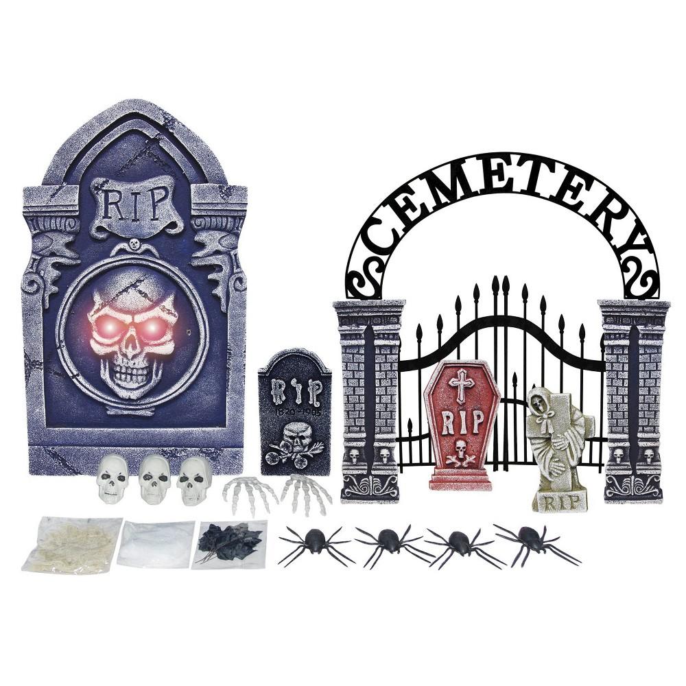Halloween 25 Piece Tombstone Décor Set,