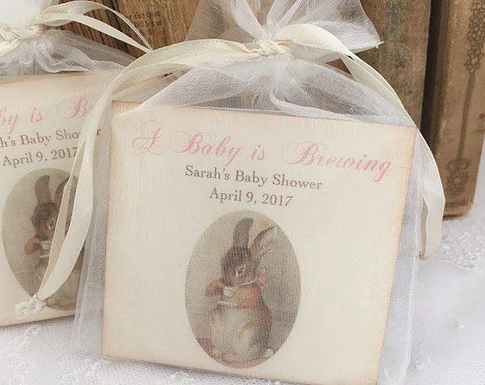 Baby Shower Favors, Tea Bag Favors, Baby Shower Fa
