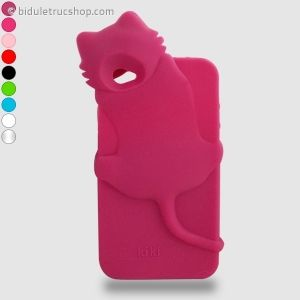 Coque IPhone 4 Chat coloris différents #coqueiphone #chat