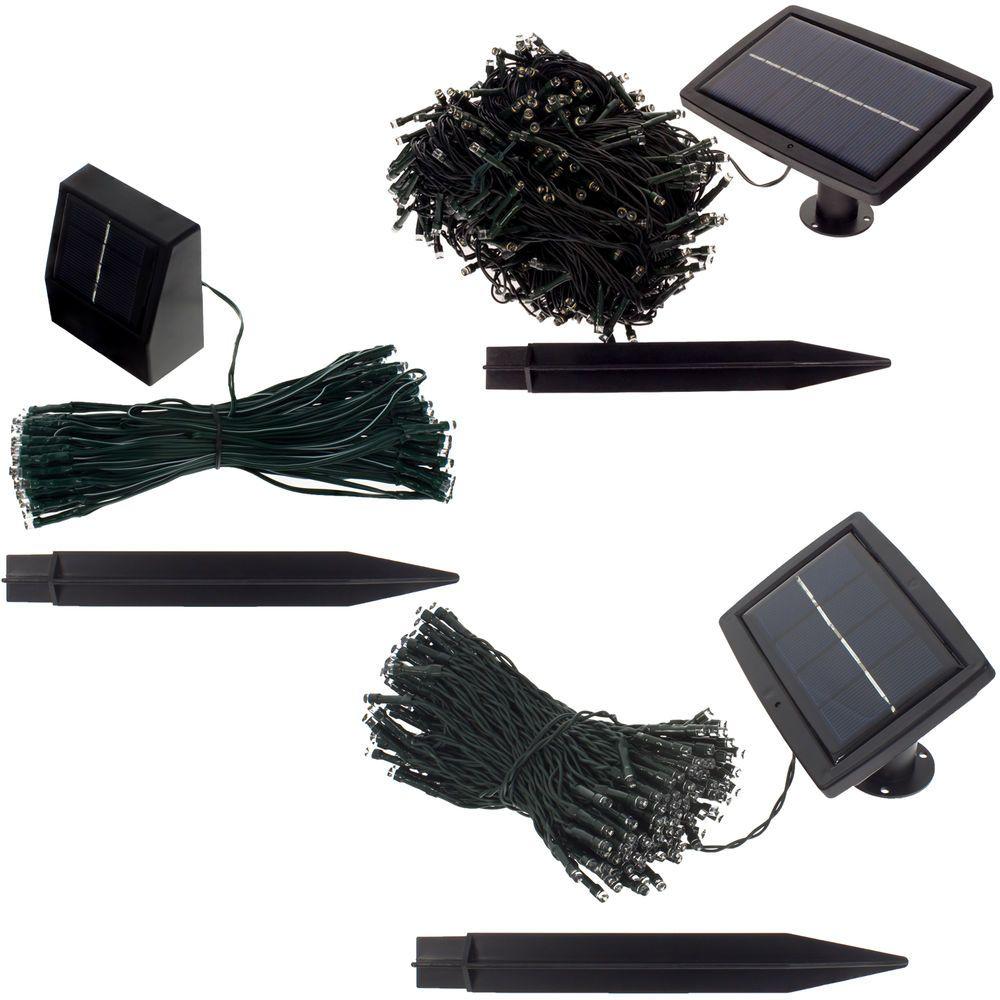 details zu solar lichterkette 100 500 led gartenbeleuchtung partybeleuchtung led kette. Black Bedroom Furniture Sets. Home Design Ideas