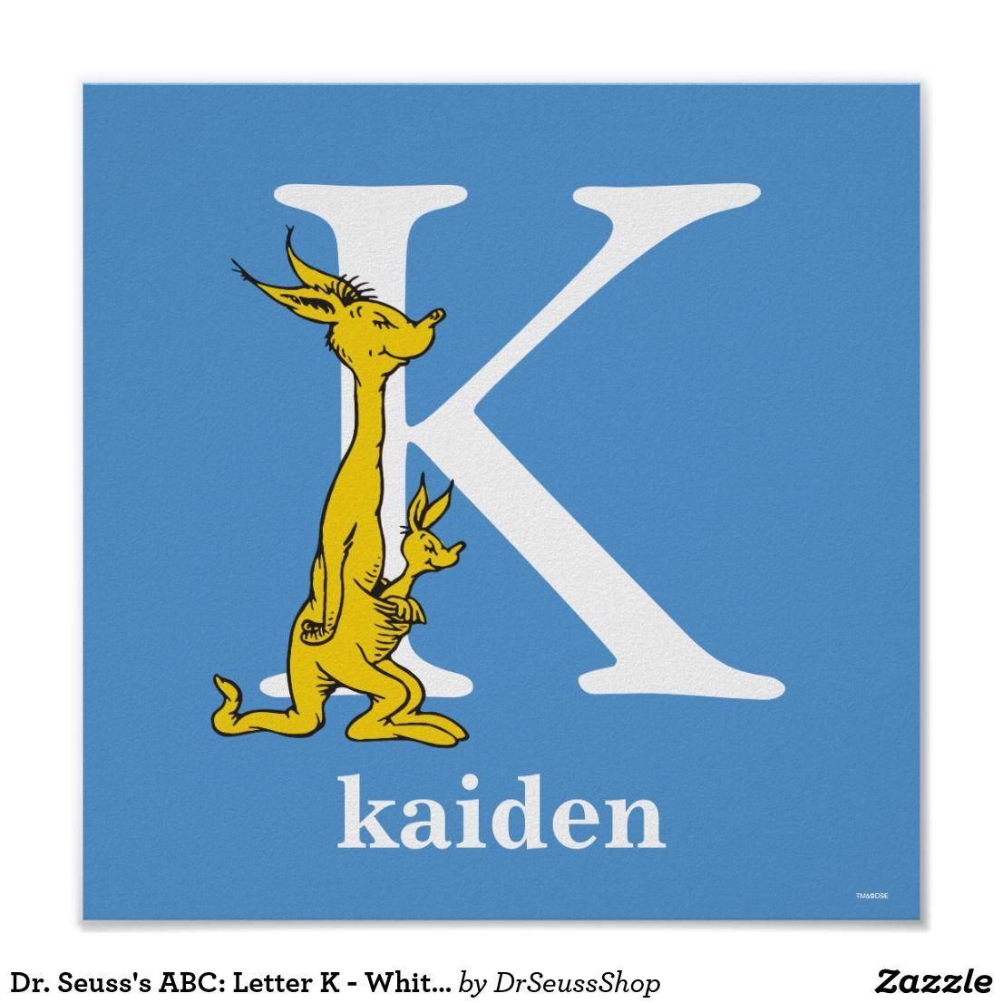Dr. Seuss's ABC: Letter K - White