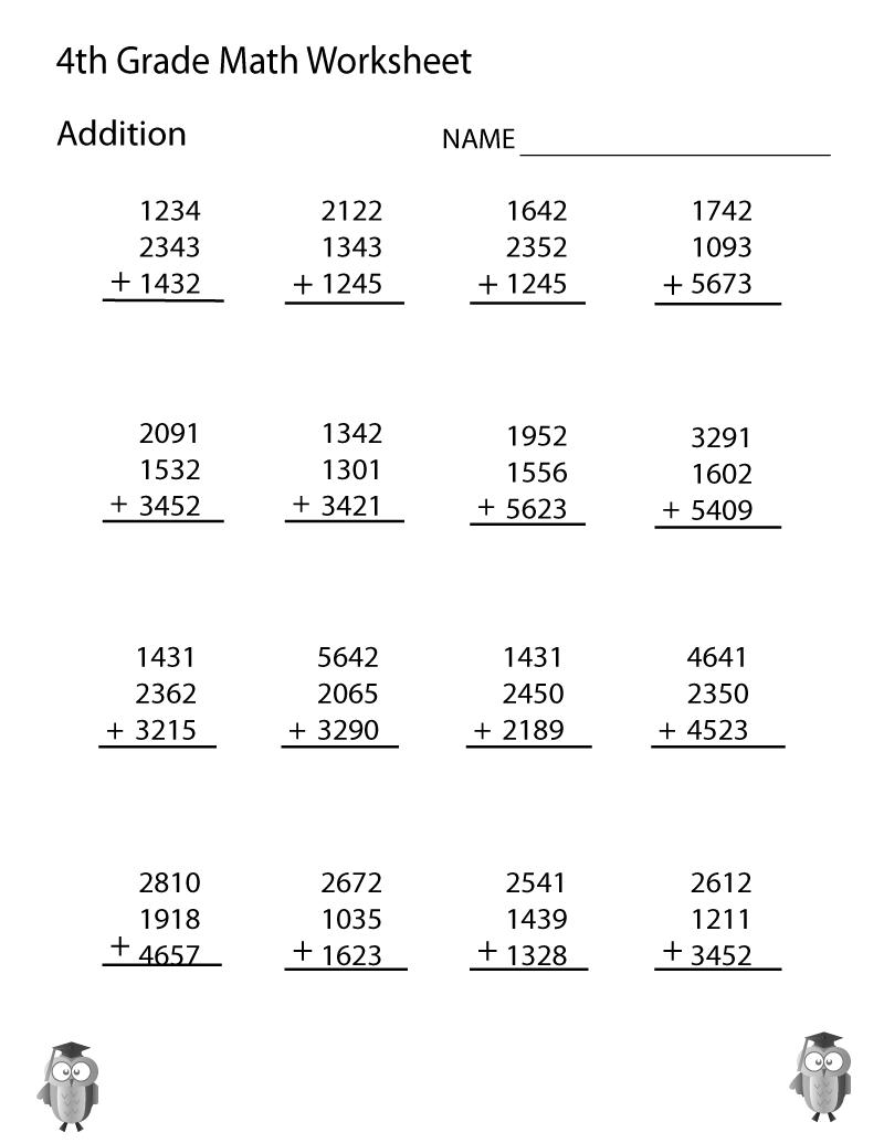 4th Grade Math 4 Digits Addition Fourth Grade Math Worksheets Educative Printable 4th Grade Math Worksheets 4th Grade Math Math Addition Worksheets