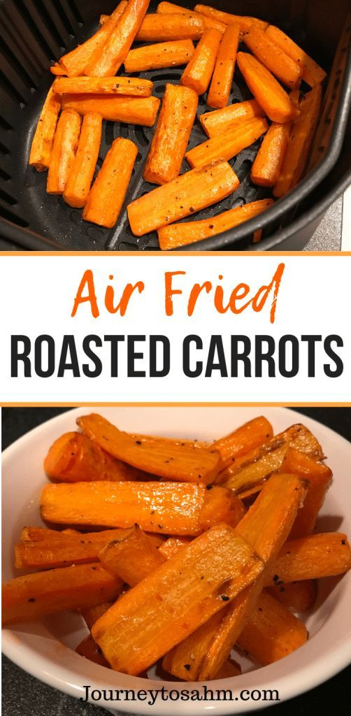 Simple Air Fried Roasted Carrots   Paleo, Vegan, Whole30 Delicious air fried roasted carrot recipe. Enjoy healthy carrots in half the time cooked in an air fryer. An easy side dish for family dinners and weeknight meals. A perfect healthy carrot recipe that is delicious and quick.