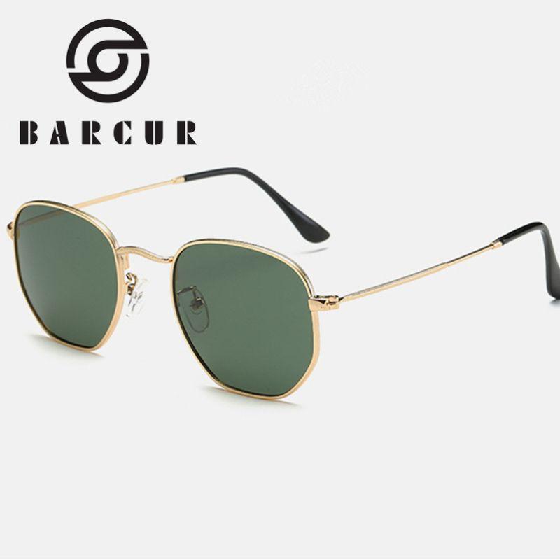 Classic Retro Reflective Sunglasses Man 3548 Hexagon Sunglasses Metal Frame Eyewear Sun Glasses With Box Oculos De Sol gafas