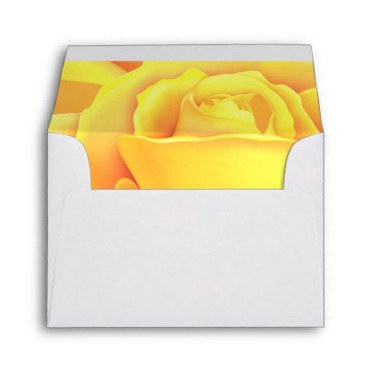 Beautiful Yellow Rose Envelope Zazzle Com Yellow Roses Floral Cards Custom Printed Envelopes