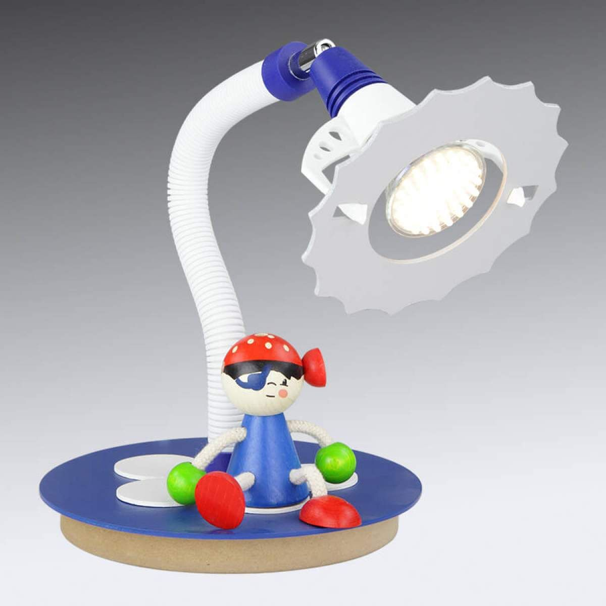 Table De Chevet Pirate lampe à poser led pirate avec personnage assis | lampe à