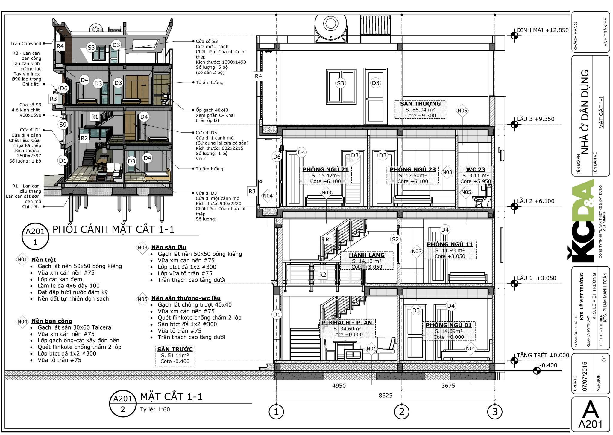 Section created with Skalp for SketchUp. Project by KCDA | House ...