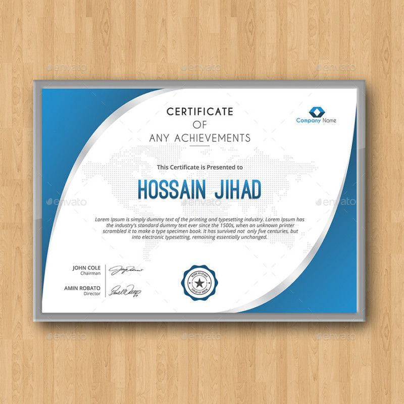 Fully Customizable Certificate Of Achievement Template Certificate
