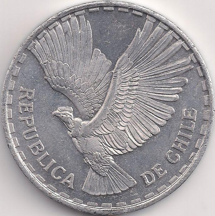 Motivseite Münze Amerika Chile Escudo 001 1960 1963 Chile чили