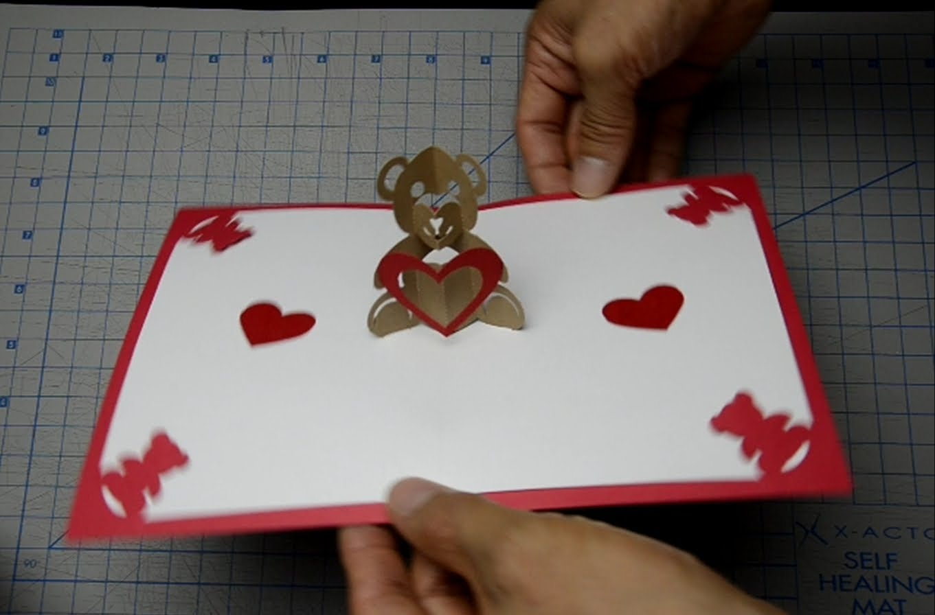 Teddy Bear Pop Up Card Tutorial