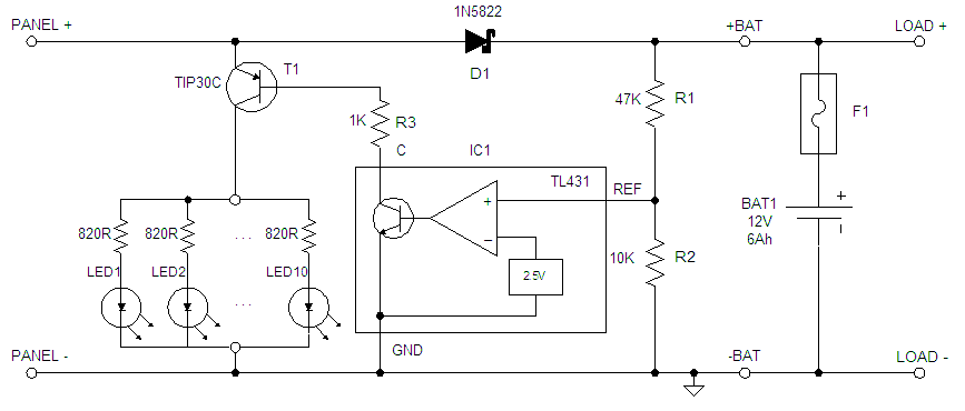 charge controller circuit diagram  zen diagram, circuit diagram
