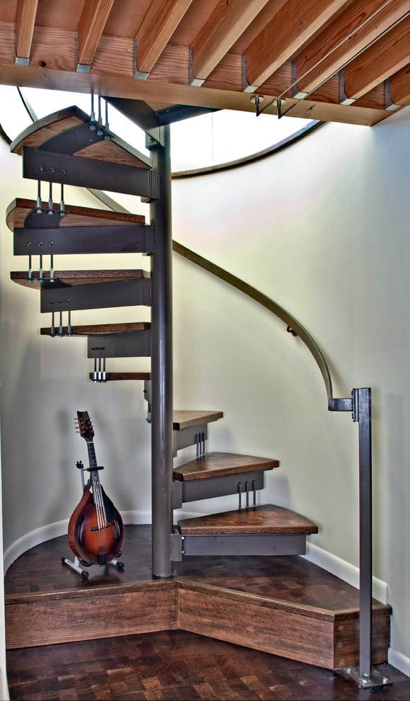 Best 13 Spiral Staircase Design Ideas For Small Spaces Spiral 400 x 300
