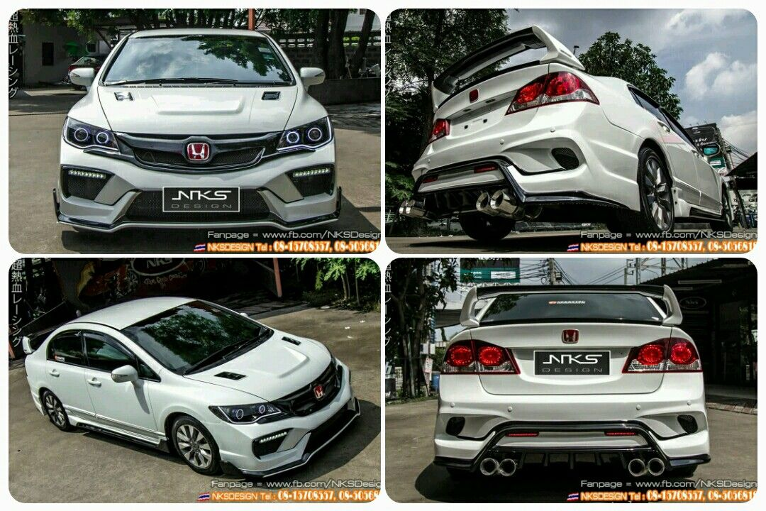 Civic Fd Type X Custom Body Kit By Nks Design Thailand