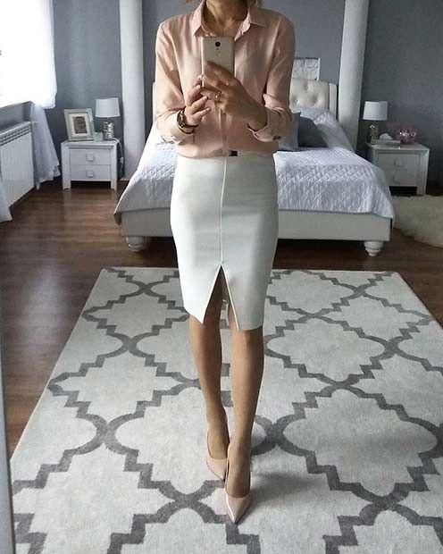 21 Einfache und trendige Arbeit Outfits für den Frühling