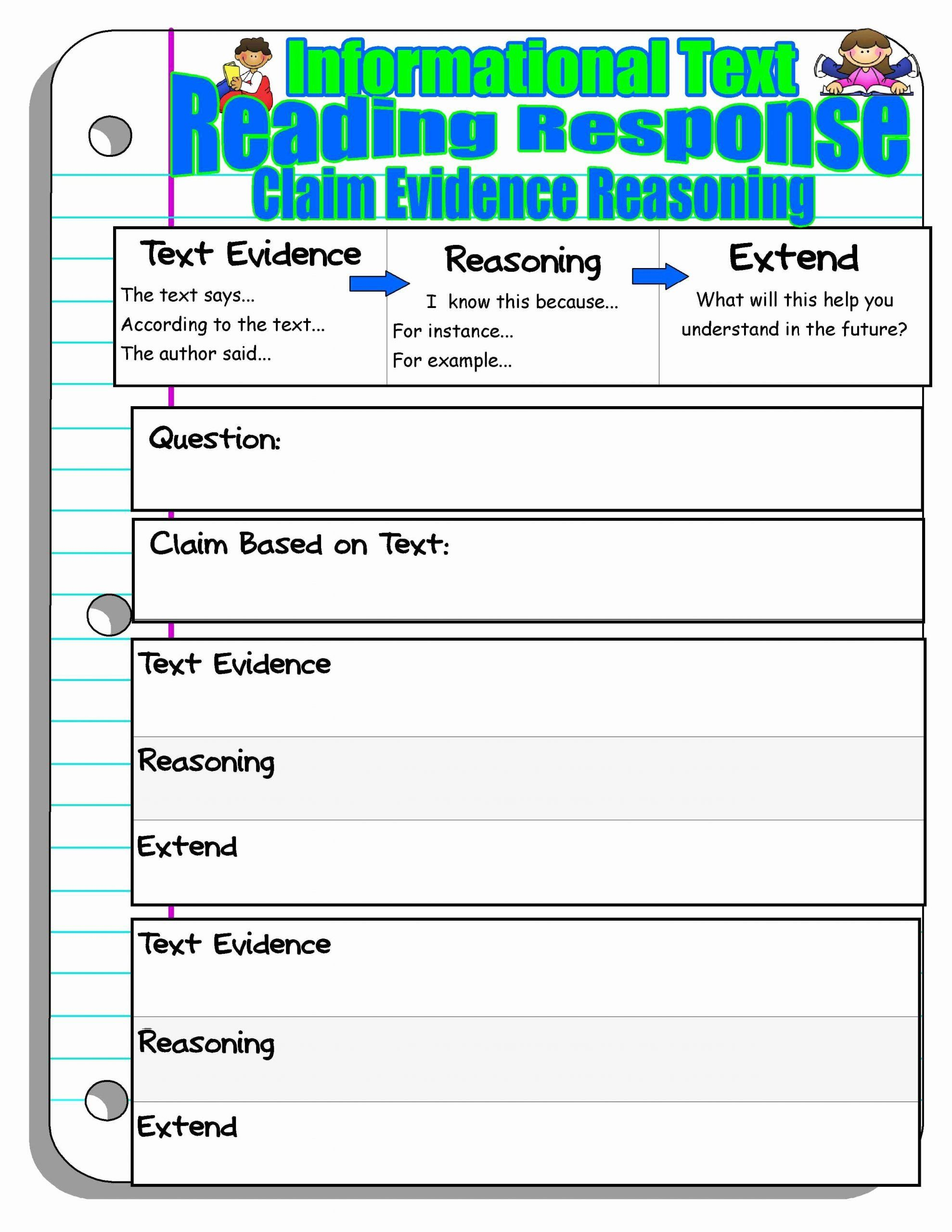 Identifying Claims And Evidence Worksheet Best Of Identifying Claims And Evidence Worksheet Reading Response Worksheets Reading Response Teaching Writing [ 2560 x 1978 Pixel ]