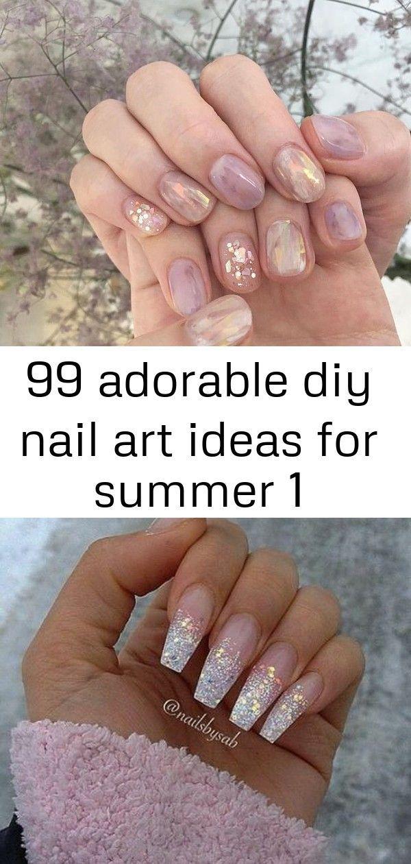 #Adorable #Art #diy #Ideas #Nail #Zomer 99 schattige diy nail art-ideeën voor summ …