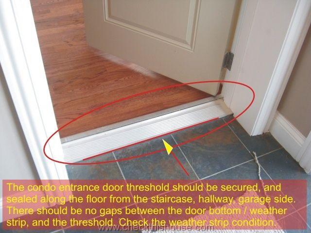 Condo Entrance From Enclosed Staircase Hallway Or Garage Door