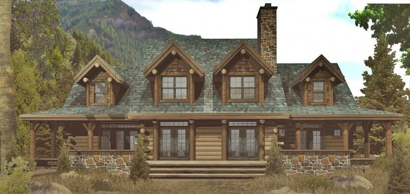 this appalachian style log home reflects a vintage feel with its