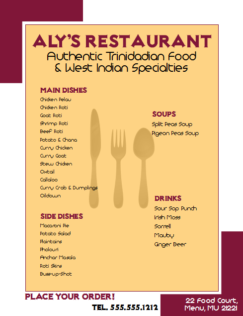 Download A Microsoft Publisher Template For A Restaurant Flyer