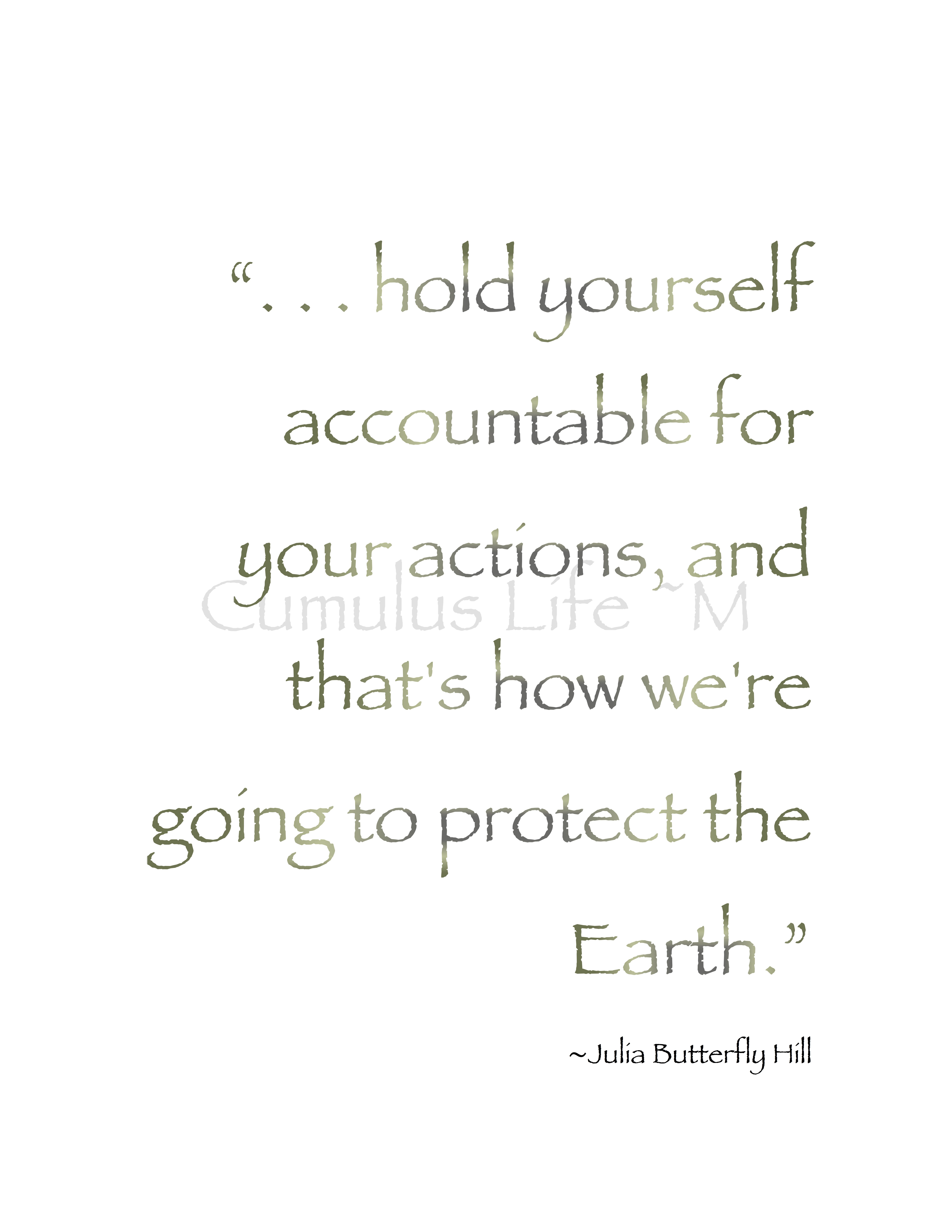 Hold Yourself Accountable For Your Actions And That S How We Re Going To Protect The Earth Julia But Nature Quotes Nature Quotes Trees Forest Quotes